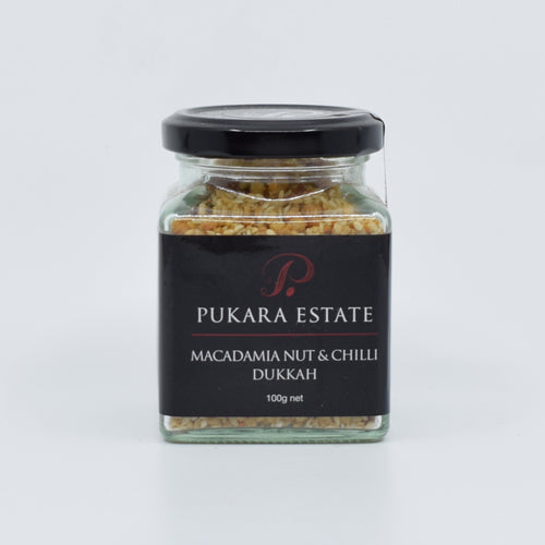 Pukara Estate - Macadamia Nut & Chilli Dukkah 100g - Bel & Brio Shop Online | Supermarket , Bottle Shop , Restaurant Deliveries