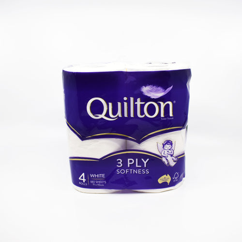 Quilton 3 Ply Toilet Roll (4 Rolls / 180 Sheets) - Bel & Brio Shop Online | Supermarket , Bottle Shop , Restaurant Deliveries