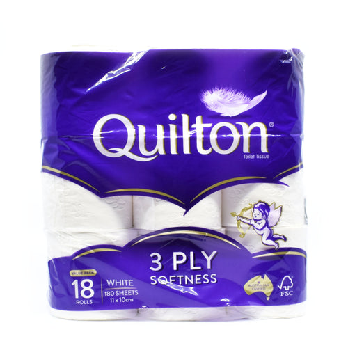 Quilton Toilet Roll (18 Rolls x 180 Sheets)