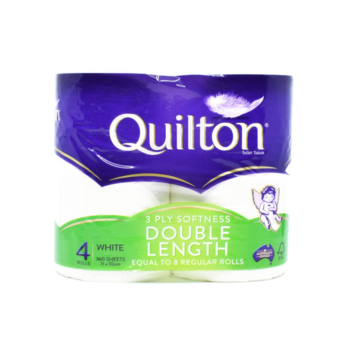 Quilton Toilet Roll (4 Rolls x 360 Sheets) Double Length