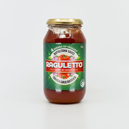 Raguletto Tomato & Garlic Sauce 500g - Bel & Brio Shop Online | Supermarket , Bottle Shop , Restaurant Deliveries