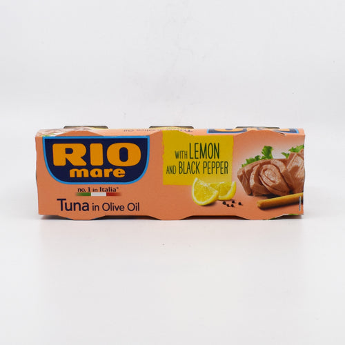 Rio Mare - Tuna in Olive Oil with Lemon and Black Pepper (3x80g) - Bel & Brio Shop Online | Supermarket , Bottle Shop , Restaurant Deliveries