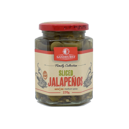 Sandhurst - Sliced Jalapenos 270g - Bel & Brio Shop Online | Supermarket , Bottle Shop , Restaurant Deliveries