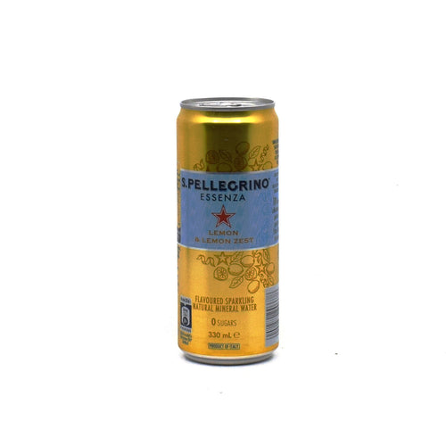 Sanpellegrino - Lemon & Lemon Zest Sparkling 330ml - Bel & Brio Shop Online | Supermarket , Bottle Shop , Restaurant Deliveries