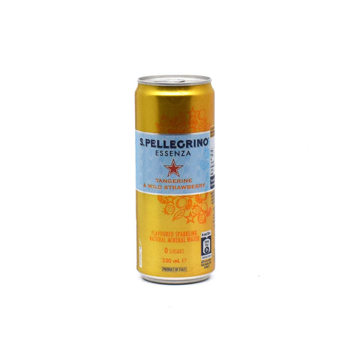 Sanpellegrino - Tangerine & Wild Strawberry Sparkling 330ml - Bel & Brio Shop Online | Supermarket , Bottle Shop , Restaurant Deliveries