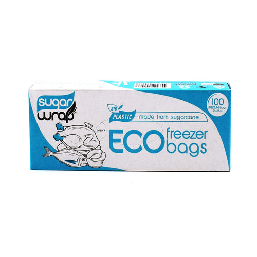 Sugarwrap Eco Freezer Bags 100 Medium Bags - Bel & Brio Shop Online | Supermarket , Bottle Shop , Restaurant Deliveries