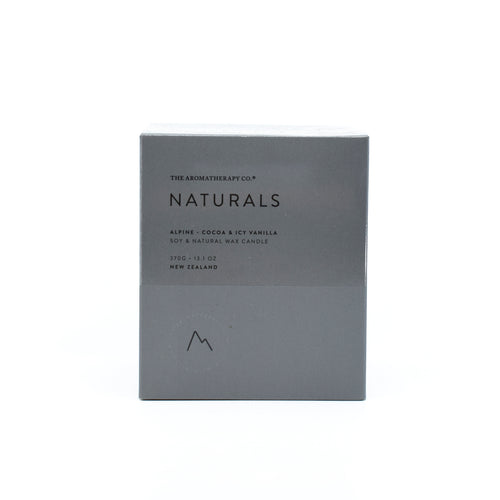 The Aromatherapy Co Naturals - Alpine Candle (Cocoa & Icy Vanilla) 370g