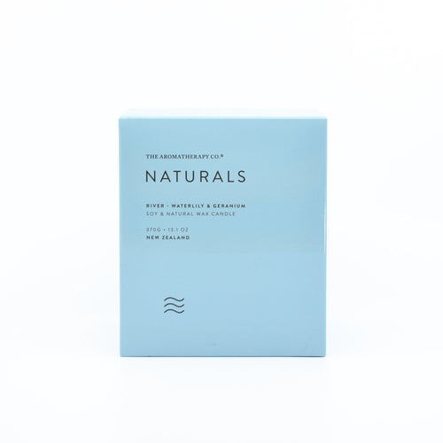The Aromatherapy Co Naturals - River Candle (Waterlily & Geranium) 370g
