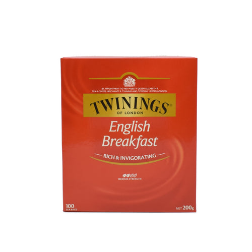 Twinings English Breakfast (100 Tea Bags) - Bel & Brio Shop Online | Supermarket , Bottle Shop , Restaurant Deliveries