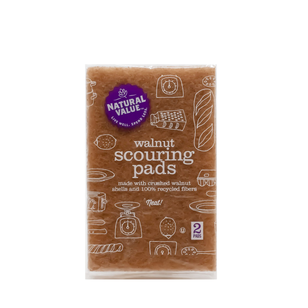 Walnut Scouring Pads (2 Pack)