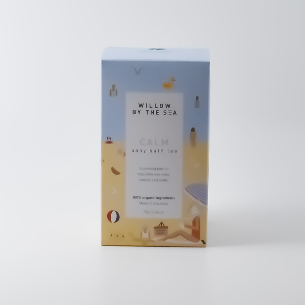 Willow By The Sea - Calm Baby Bath Tea 75g - Bel & Brio Shop Online | Supermarket , Bottle Shop , Restaurant Deliveries