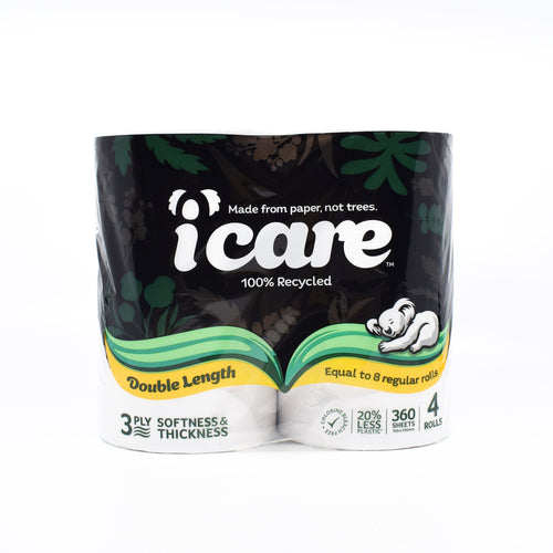 icare Toilet Roll (4 Rolls x 360 Sheets) - Bel & Brio Shop Online | Supermarket , Bottle Shop , Restaurant Deliveries