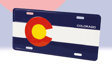 Impact CO Flag License Plate