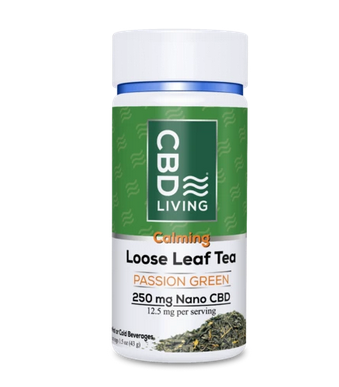 Load image into Gallery viewer, CBD Living Passion Green Tea 250mg
