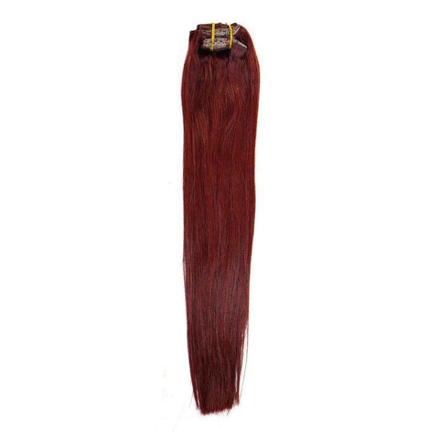 Cherry Red Clip-in Brazilian Extensions