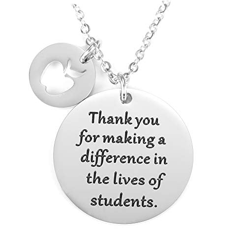 O.RIYA Graduation Gift, Teacher Necklace,Christmas Gifts for Teacher, Gift from Student, Teacher Gift, Personalized Teacher Jewelry