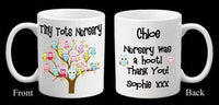 Personalised Teacher Teaching Assistant Nursery Owl Thank you Mug Present Gift