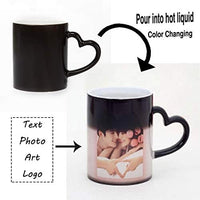 Magic Custom Color Changing Coffee Mug Cup, Personalized DIY Print Ceramic Hot Heat Sensitive Cup Birthday Christmas Gift -Add YOUR PHOTO&TEXT