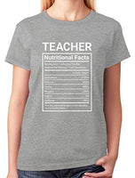Tstars - Teaching Gifts Teacher Nutritional Facts Women T-Shirt