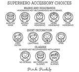 Self Inking Superhero Teacher Stamp, Personalized Superhero Teacher Stamps, Teacher Gifts - Choose Hairstyle and Accessories