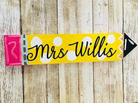 teacher desk pencil name plate - Teacher gift principle gift wooden sign teacher appreciation pencil back to school teacher teacher gift idea