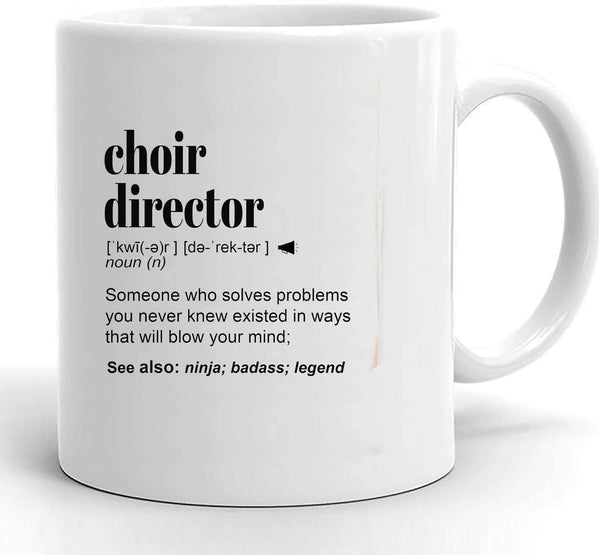 Choir Director Gift Mug for Women and Men, Music Teacher, For Birthday, Appreciation, Thank You Gift, A Personalized Custom Name Coffee Mug