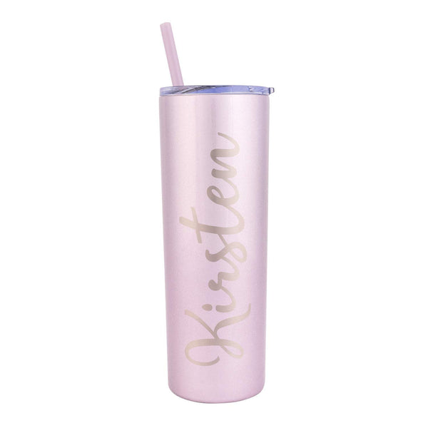 Stainless-Steel Tumbler, Personalized Tumbler, Customized Gift (20 Ounces)