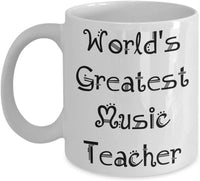 Music Teacher Mug Gifts - Teacher Appreciation Gift - Men, Women, Coworkers - Mugs are Best Gifts for Retired High School, Middle School Teachers - Coffee Mug - Perfect End of Year Gift, Christmas