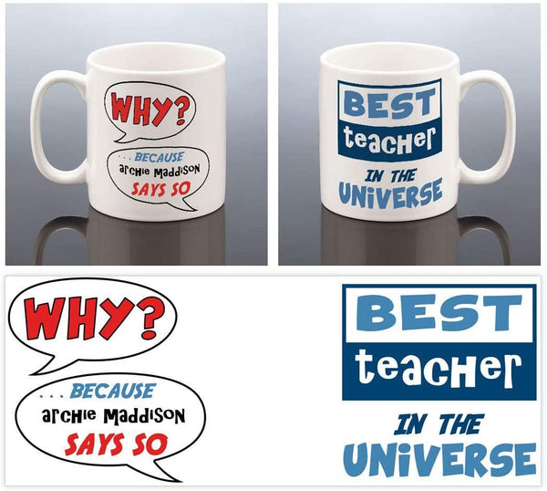 BEST TEACHER MUG Personalised Thank You Teacher Gift School Teacher Cup School Year