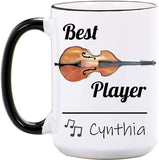 Saxophone Mug - Personalized Large 15 oz or 11 oz Ceramic Cup - Sax Mugs - Saxophone Gifts for Sax Player - Band Gift for Teacher - Music Coffee Cups - Dishwasher & Microwave Safe - Made In USA