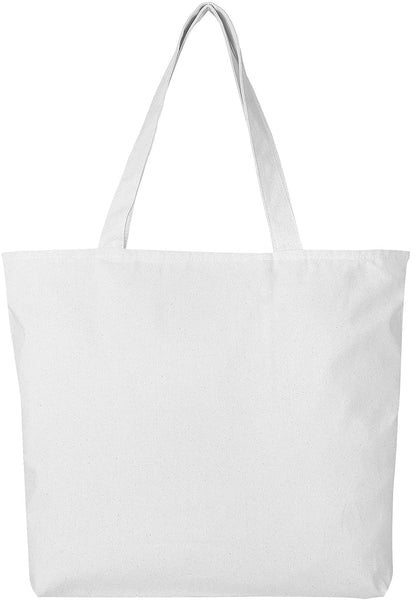 BagzDepot Canvas Tote Bag with Zipper - 3 Pack - Bulk Canvas Bags for Crafts, Groceries, Large Canvas Tote Bag for Women, Men, Kids, Teachers - Canvas Beach Tote Bag - (Black Tote Bags)