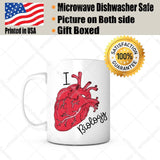 I Heart Biology Mug-Biology Gifts,Gifts For Students,Teacher Appreciation Gifts,Teacher Retirement Gifts,Retiring Teacher Gifts For Women,Fun Teacher Gifts,Teacher Gifts For Men,Gifts for Teachers