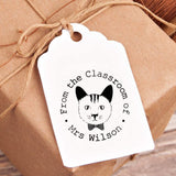 Custom Teacher Rewiew Stamp from The Classroom of Mrs Wilson Personalized Design Cats Round Signet Stamper Gift for Teachers' Day