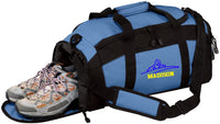 Personalized Swimming Gym Duffel Bag with Custom Text | Sports Bag with Customizable Embroidered Monogram Design (Royal)
