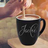 Custom Engraved Coffee Cup Latte Mug - Personalized Coffee Cup Gift - Customized for Free (Pink)