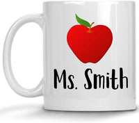 Personalized Teacher Appreciation Gifts For Women - Funny Great Best Teaching Assistant Coffee Mug Cup Customized Custom Substitute Retired Future Student (15 oz)
