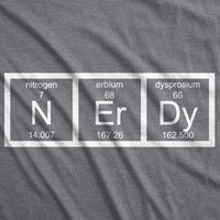 Crazy Dog T-Shirts Womens Nerdy Periodic Table T Shirt Funny Science Dork Geek Tee for Ladies
