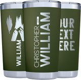 Personalized Tumblers w/Splash Proof Lid | 20 or 30oz - 11 Color | Vacuum Insulated Travel Coffee Mugs - Stainless Steel Double Wall Tumbler - Personalized Cups - Font Options #YTH