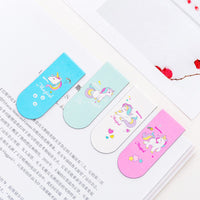 1pcs Unicorn Magnetic Bookmark Cute Stationery Teacher Gifts Metal Bookmark Bookmarks for Books Book Markers School Supplies