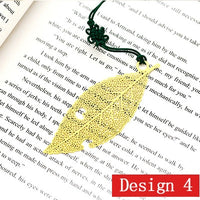 Cute Gold Metal Leaf Vein Bookmark Dragonfly Leaves Book Marks for Book Luxury Business Gift with Card for Teachers Student Gift