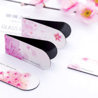 Metal Magnetic Bookmarks for Books Cherry Blossom Stationery Book Marker Clips Beauty Supplies Christmas Gifts for Teachers