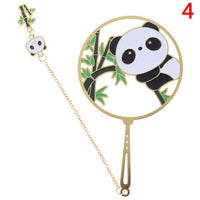 Kawaii Panda Bookmarks Cute Animal Metal Bookmark Tab For Books Stationery Book Marks gift for teacher School Office Supplies
