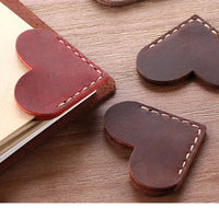 1 Pack Handcrated Vintage leather bookmarks for book, Mini Corner Page Marker Genuine Leather Bookmark for Reader Teacher Gift,
