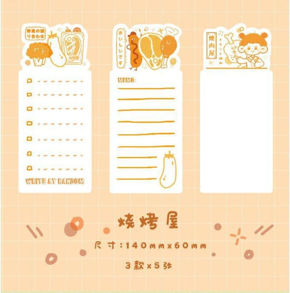 Bookmark note paper delicious series message memo backing paper  Book Mark Gift For Teacher