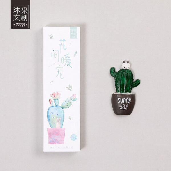 30pcs/lot Paper Cactus Bookmark for Books Markers Clip Cute School Supplies Teacher Gift Kawaii Accessories Stationery