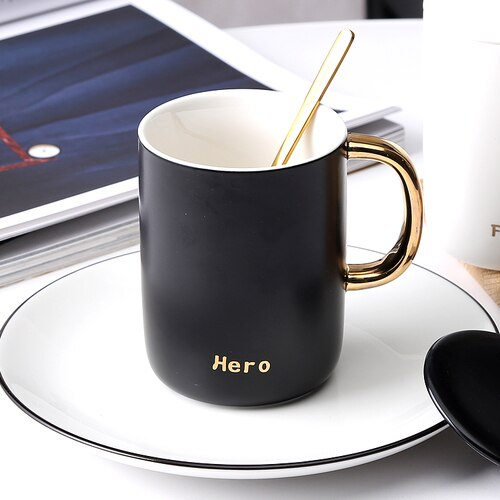 Mini Mug Cup European Equipment Coffee Office Black Creative Mugs Gifts for Teacher Unique Stirring Tumbler Home Decor GG50mk