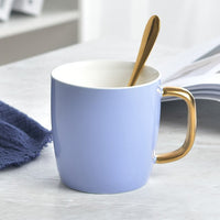 FANTERCY Drinkware Mugs 6 Colors Creative Cup Gift Color Glaze Ceramic Mug Send Spoon Travel Coffee Teacher Gifts Appreciation