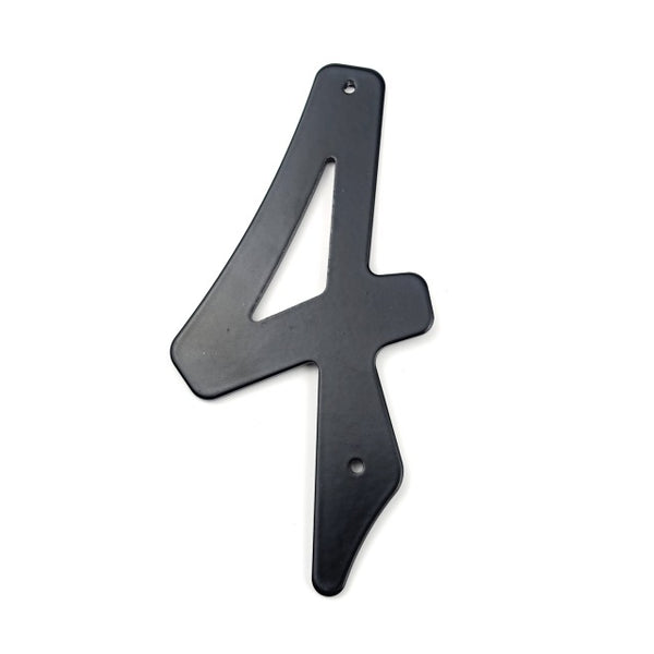 10cm Modern House Number Door Home Address Mailbox Numbers for House Digital Door Outdoor Sign 4 Inch. #0-9 Aliuminum Black
