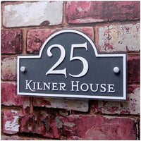 Custom House shape Modern Outdoor Frosted Plaque Acrylic Door Number Address Home Sign