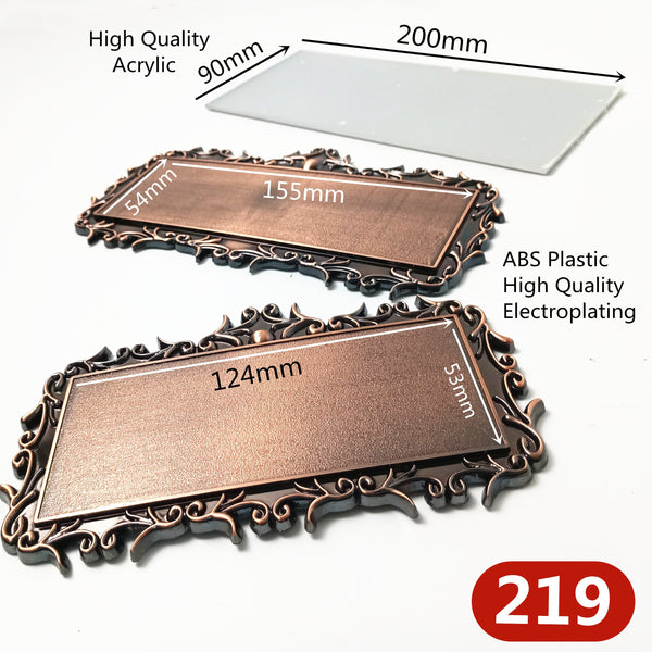 ABS Plastic/Acrylic Antique Copper Door Plates For Home Gates Hotel Room Personalized House Number Stickers Door Number Sign